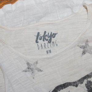 tokyo Darling Tops - Tokyo Darling Tiger Tank Top Size Medium